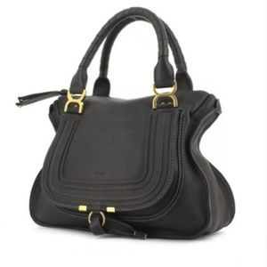 Chloe Marcie Black Calfskin Medium Bag